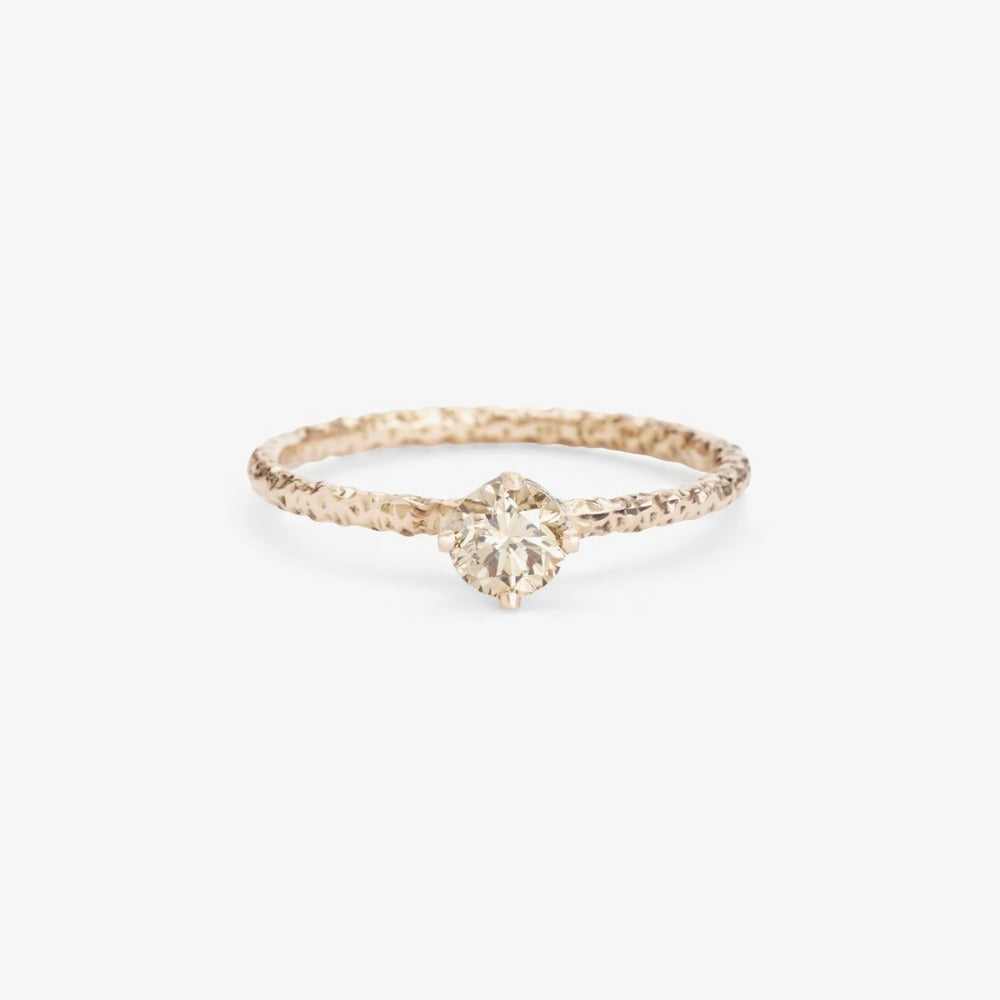 0.33 carat Diamond Brown Homespun Solitaire Ring WG | Magpie Jewellery