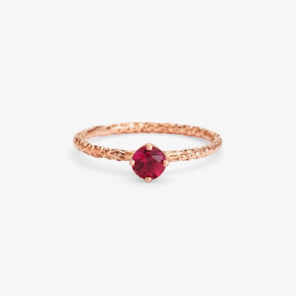 0.35 carat Ruby Homespun Solitaire Ring RG | Magpie Jewellery