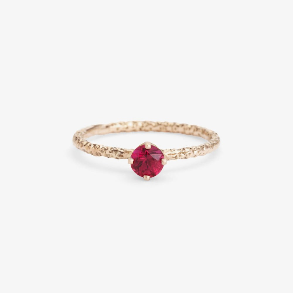 0.35 carat Ruby Homespun Solitaire Ring WG | Magpie Jewellery
