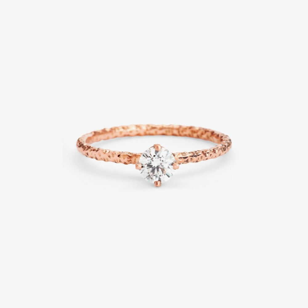 0.33 carat Diamond White Homespun Solitaire Ring RG | Magpie Jewellery