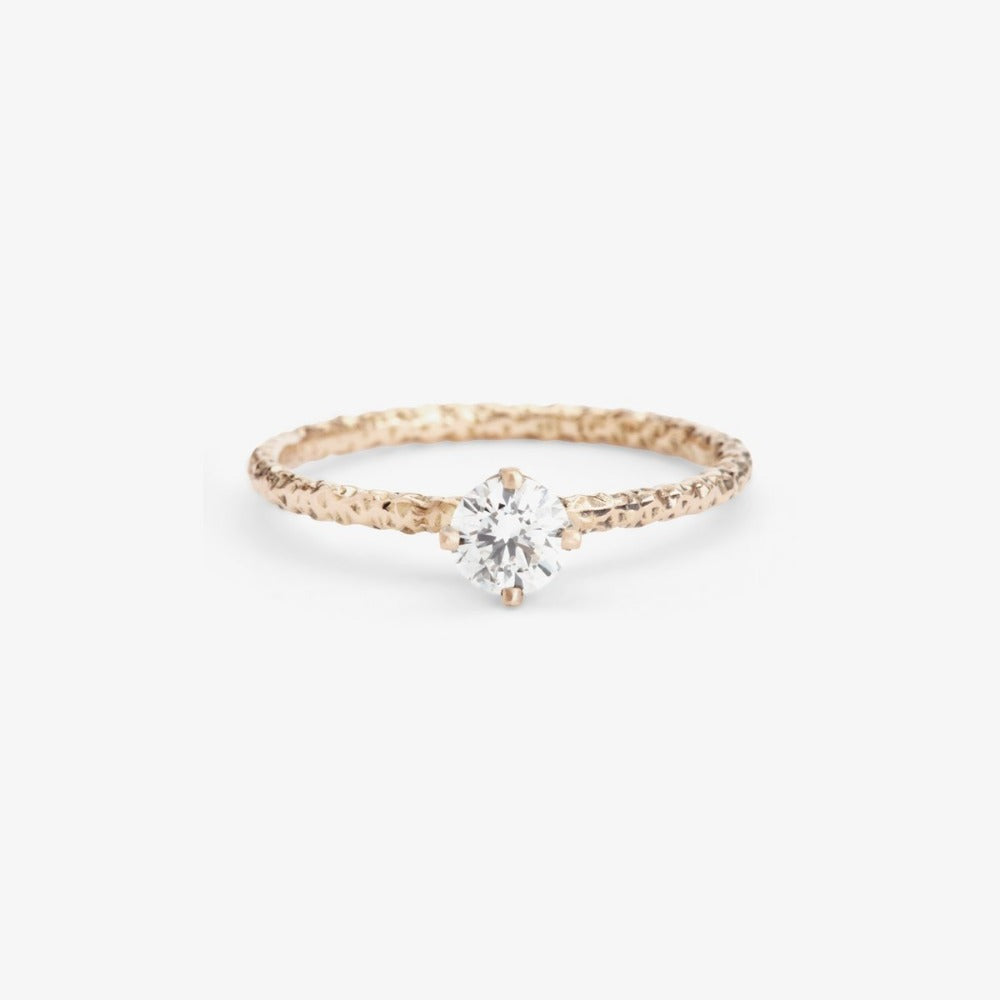 0.33 carat Diamond White Homespun Solitaire Ring WG | Magpie Jewellery