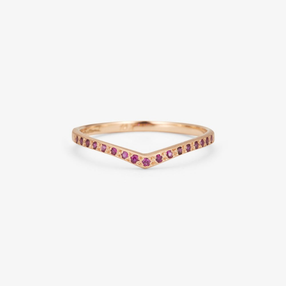 Ruby Cresting Band RG | Magpie Jewellery