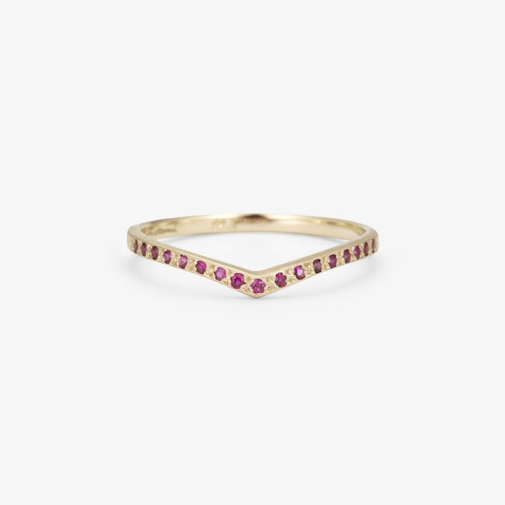 Ruby Cresting Band WG | Magpie Jewellery
