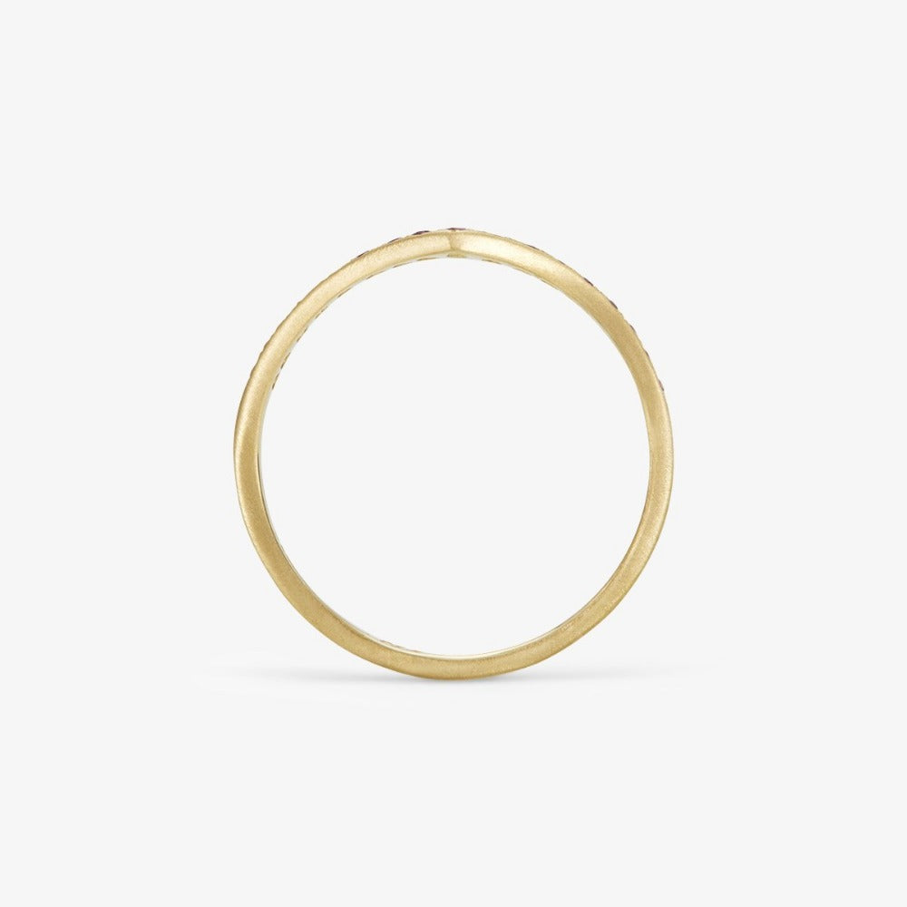 Ruby Cresting Band YG | Magpie Jewellery