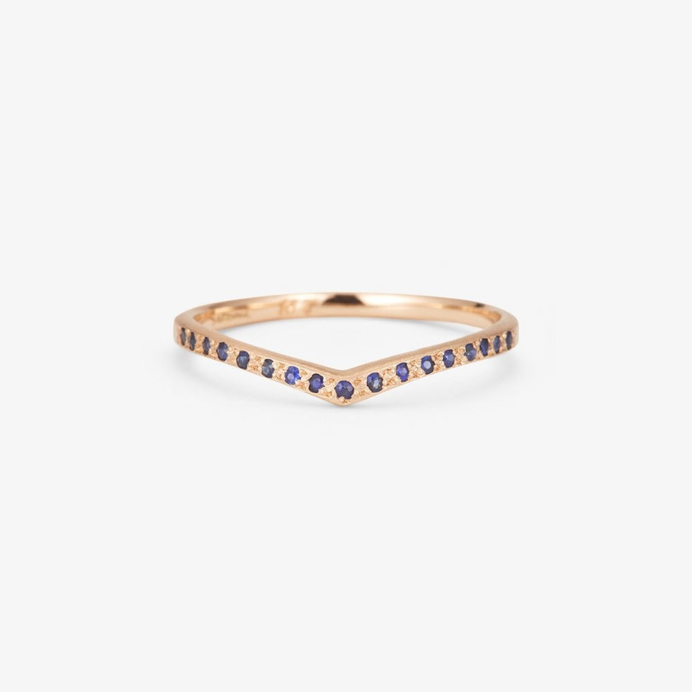 Sapphire Cresting Band RG | Magpie Jewellery
