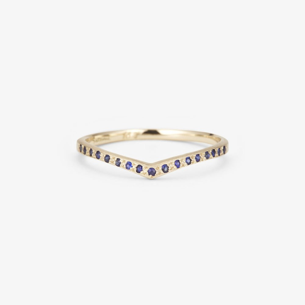 Sapphire Cresting Band WG | Magpie Jewellery