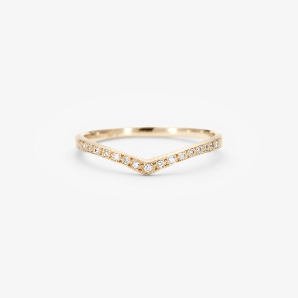 White Diamond Cresting Band WG | Magpie Jewellery