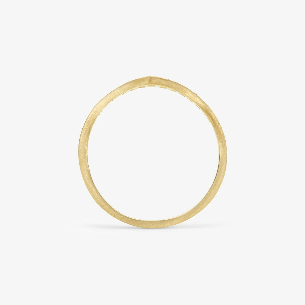 White Diamond Cresting Band YG | Magpie Jewellery