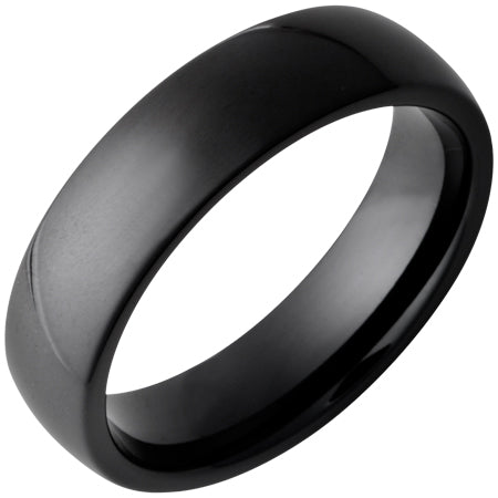 Black Diamond Ceramic Domed Band 6mm