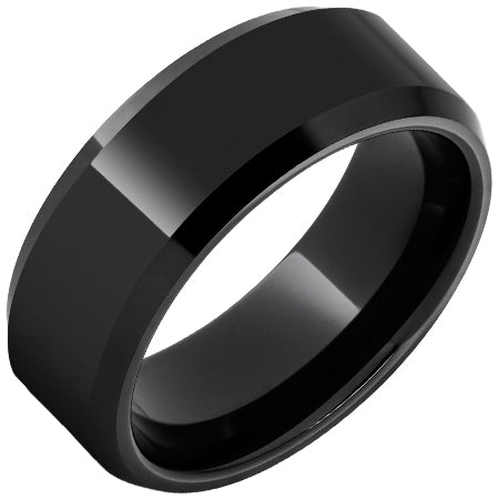 Black Diamond Ceramic Beveled Edge Band