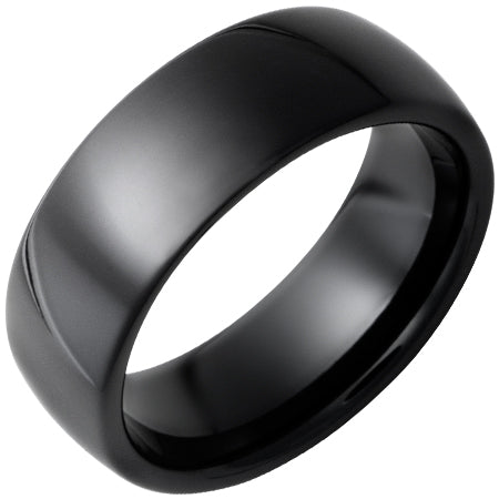 Black Diamond Ceramic Domed Band 8mm