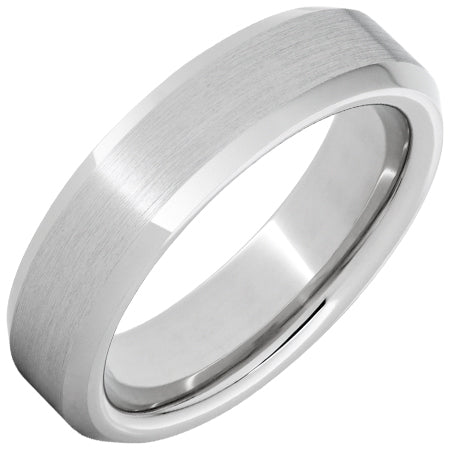 Serinium® Beveled Edge Band with Satin Finish 6mm