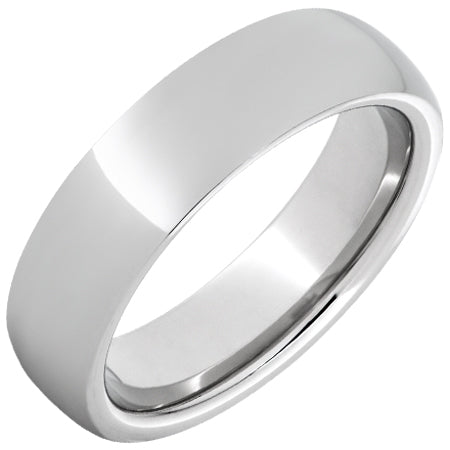 Serinium® Domed Band with Polish Finish - 6mm