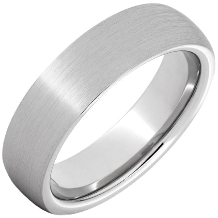 Serinium® Domed Band with Satin Finish 6mm