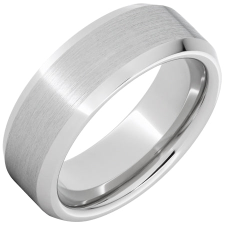 Serinium® Beveled Edge Band with Satin Finish 8mm