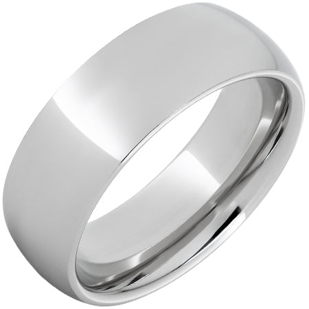 Serinium® Domed Band with Polish Finish - 8mm
