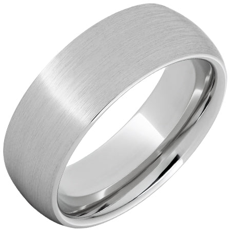 Serinium® Domed Band with Satin Finish 8mm