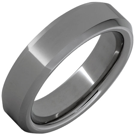 Rugged Tungsten™ Beveled Edge Polished Band
