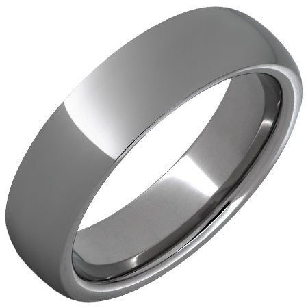 Rugged Tungsten™ Domed Polished Band - 6mm