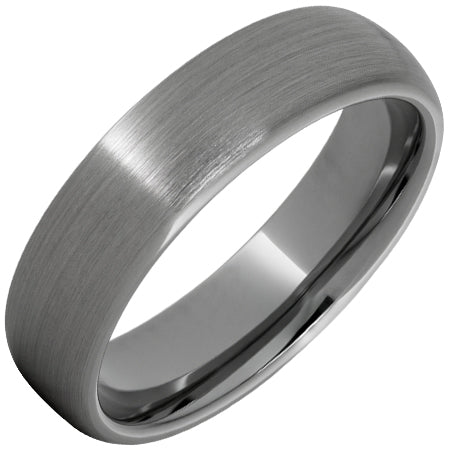 Rugged Tungsten™ Domed Band with Satin Finish