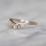 Katie Grey & White Diamond Wedding Ring