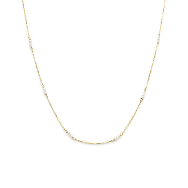 Strand  Pearl Necklace 14k Gold