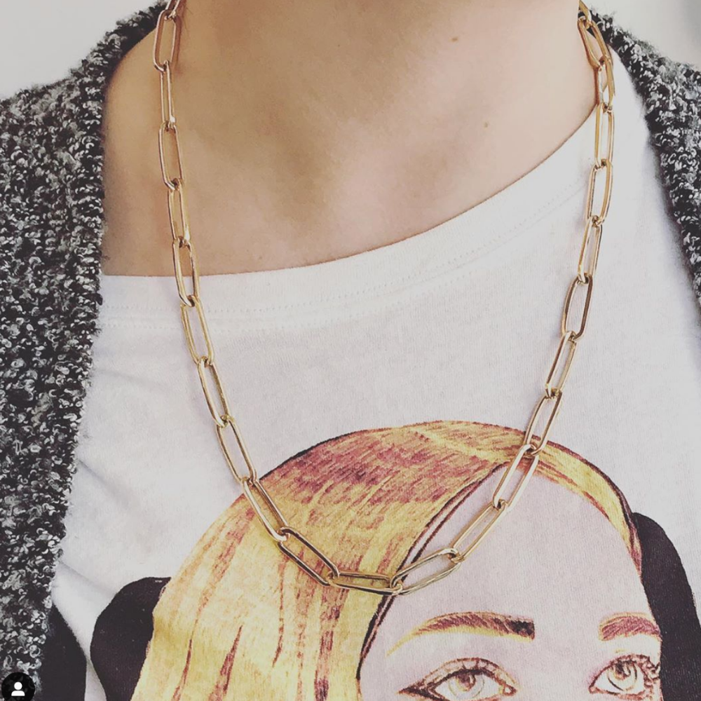 'EDDIE' LARGE LINK CHAIN NECKLACE