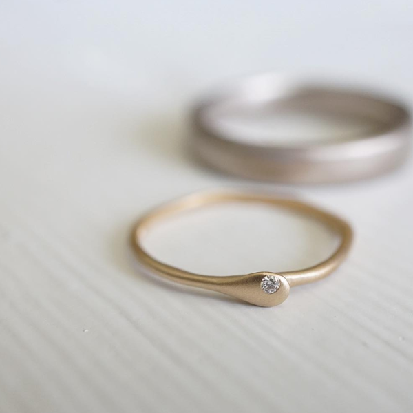 Micro Engagement Diamond & Gold Engagement Ring | Magpie Jewellery