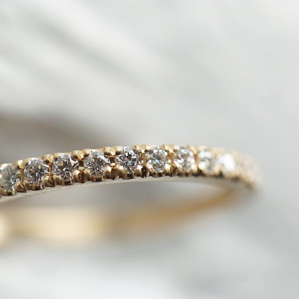 Classic Eternity Diamond & Gold Wedding Band | Magpie Jewellery