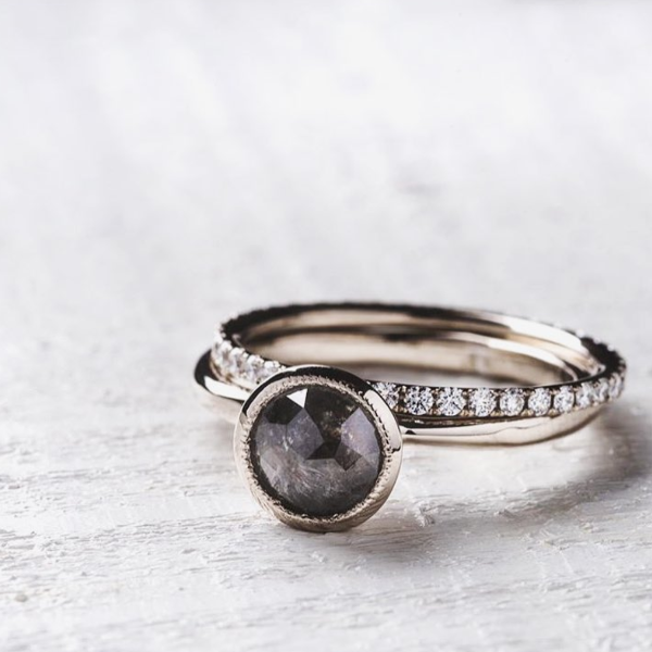 Full Moon Solitaire Diamond & Gold Engagement Ring | Magpie Jewellery