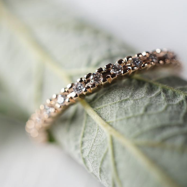 Handmade Eternity Diamond & Gold Engagement Ring | Magpie Jewellery