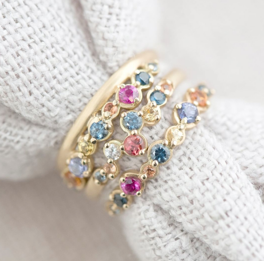Multi-Coloured Sapphire Festival Ring