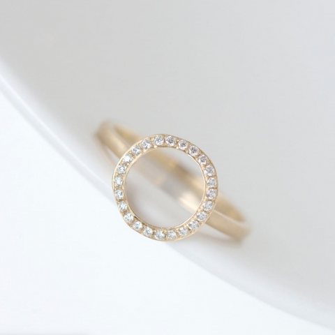 Open Pave Diamond 'Lilydust' Ring