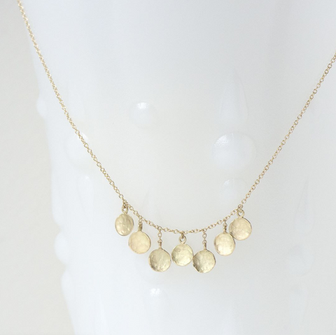 Seven Gold Disc Necklace