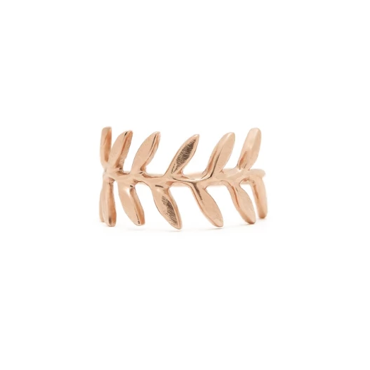 Wide Leaf Gold Band | Magpie Jewellery