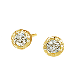 Seashore Diamond Studs | Magpie Jewellery