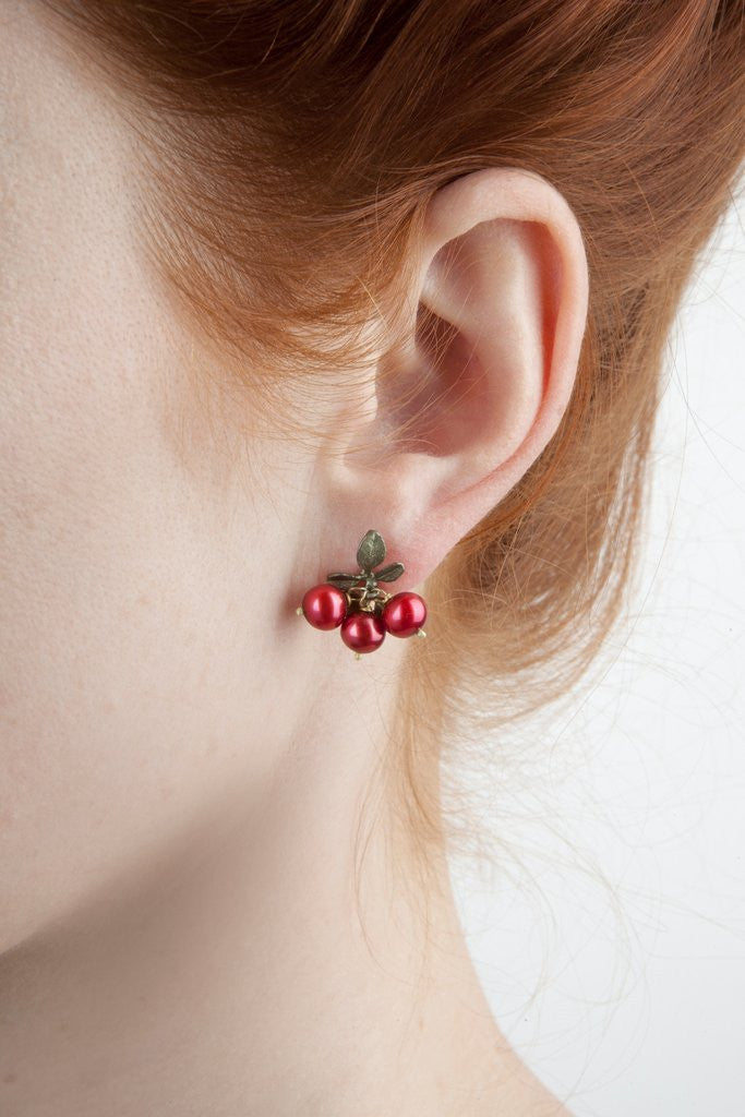 Cranberry Stud Earrings