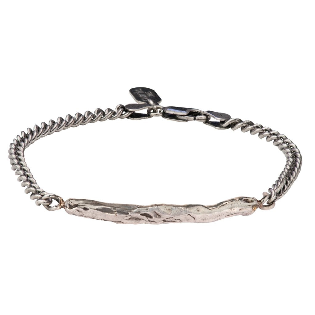 Texture Bar Bracelet Silver | Magpie Jewellery