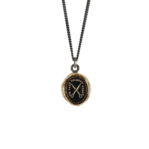 We Part To Meet Again Talisman Bronze | Magpie Jewellery