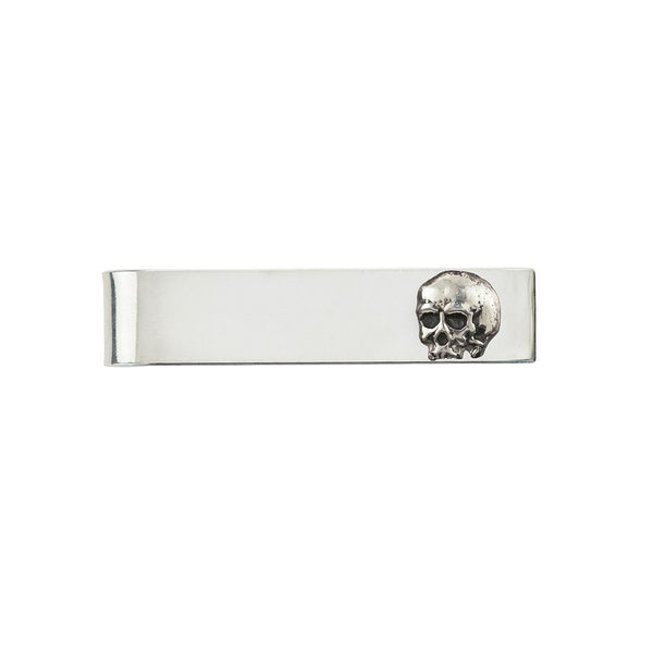 Skull Tie Bar Silver | Magpie Jewellery