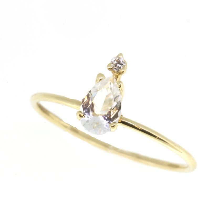Dewdrop White Topaz Diamond Ring