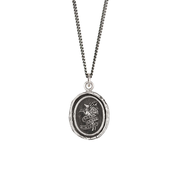 Nothing is Heavy Silver Talisman | Magpie Jewellery