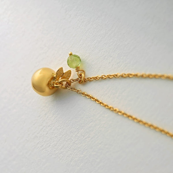 Apple and Peridot Neckpiece