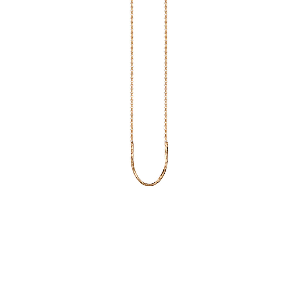 Gold Charm Holder Necklace