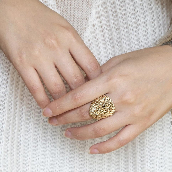 The Big Ring | Magpie Jewellery | Yellow Gold | On Model