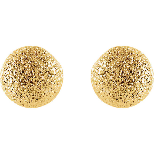 Ball Studs - Yellow Gold Sparkle Stud