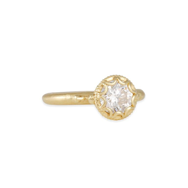 Scalloped Bezel Prima Cherie Ring Mount