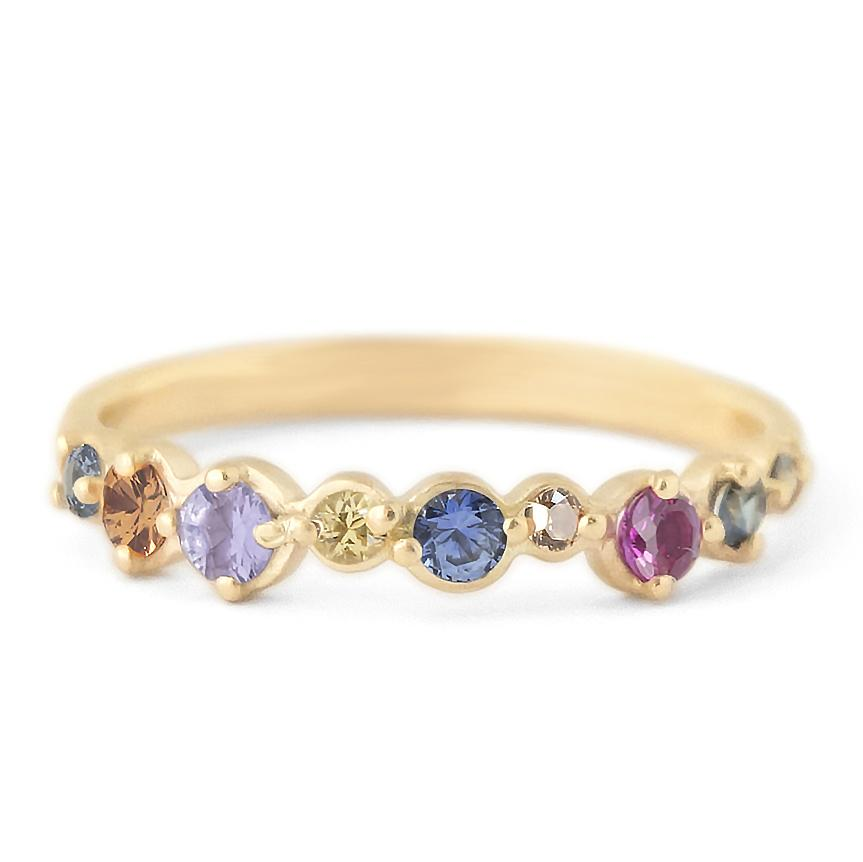 Multi-Coloured Sapphire Cap Band