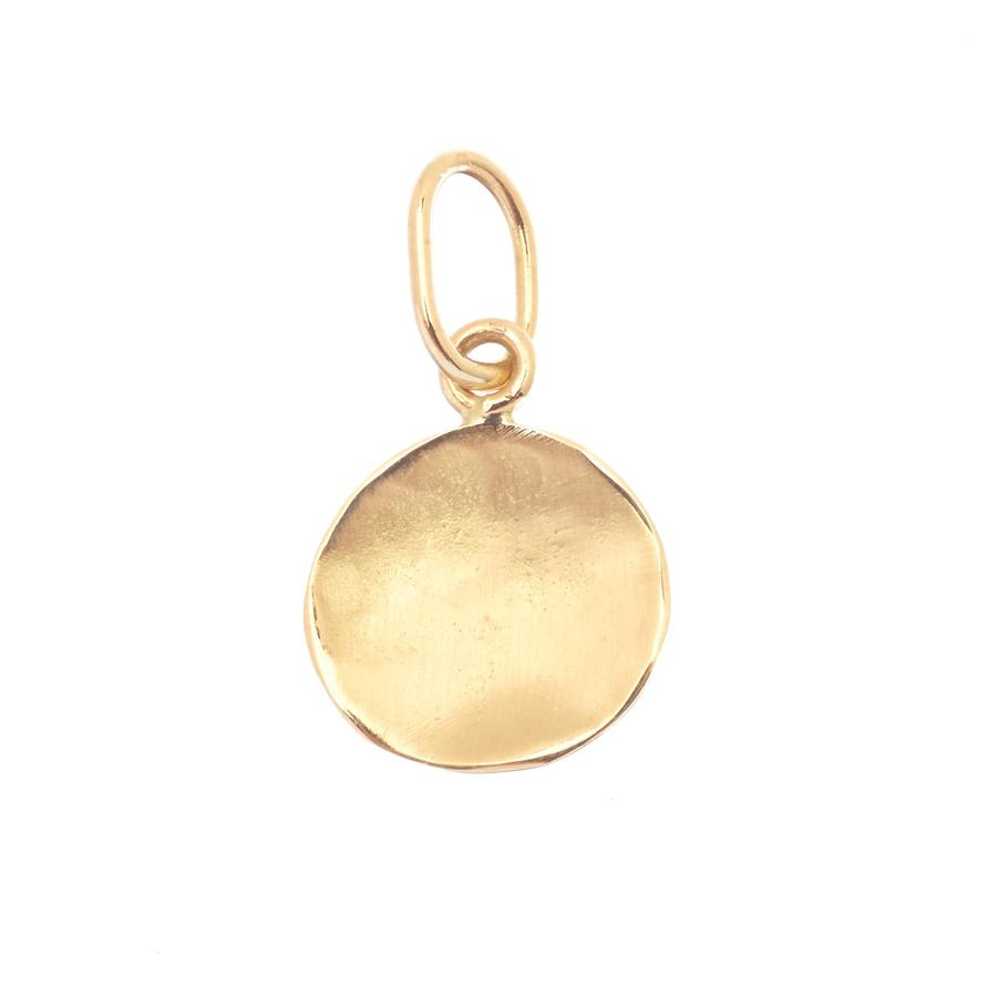 Simple Concave Disc Charm | Magpie Jewellery