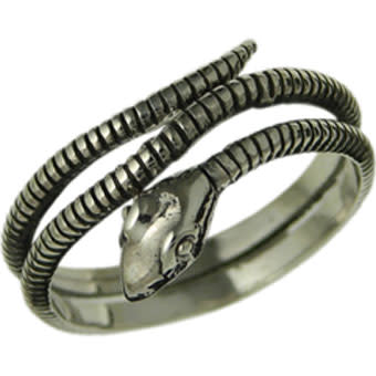 Oxidized Snake Wrap Ring